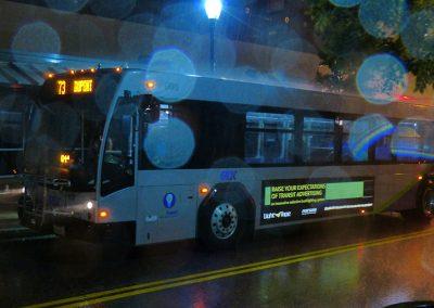 LightTape på bus. SP Skilte
